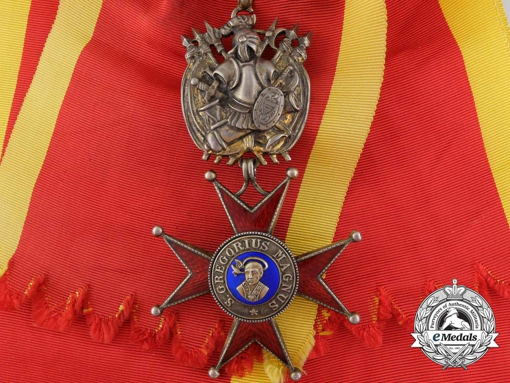 eMedals-An Order of St. Gregory the Great; Military Division Grand Cross by Tanfani & Bertarelli