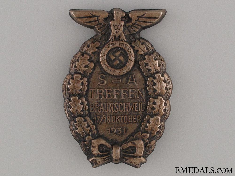 eMedals-Badge of the SA-Meeting Brunswick 1931