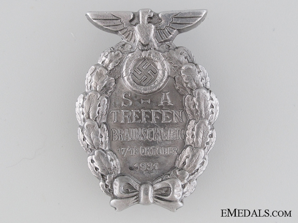 eMedals-Badge of the SA-Meeting Brunswick 1931