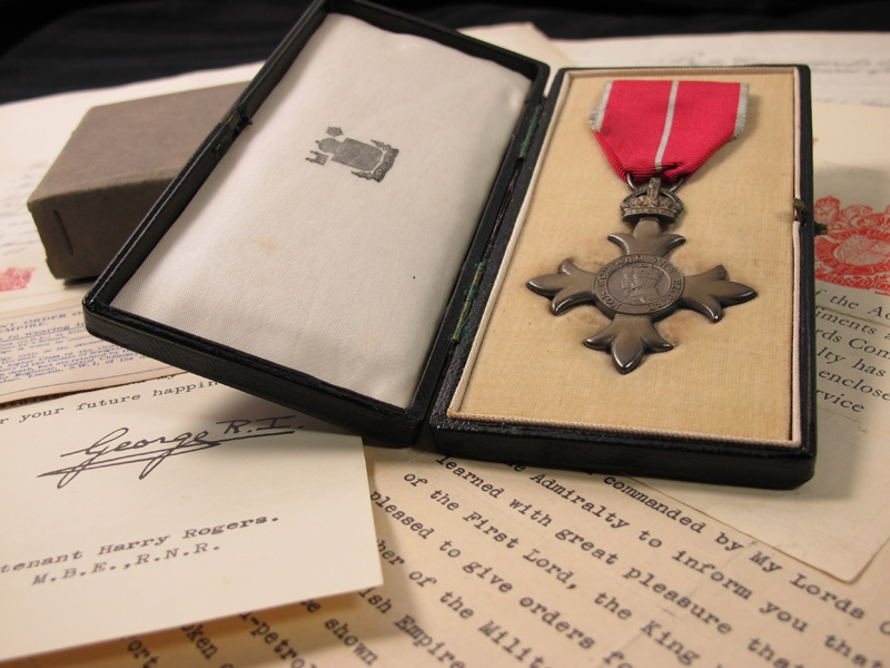eMedals-MBE. Military, Lieutenant Harry Rogers, R.N.R.