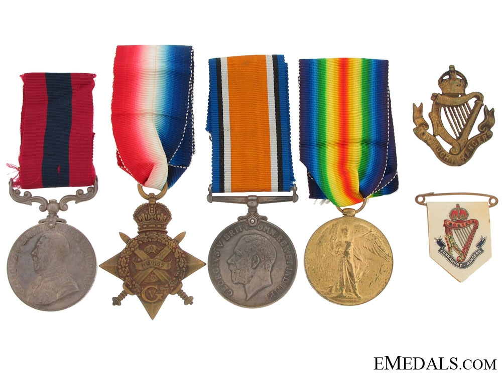 eMedals-An Early First War DCM & KIA Group to the Connaught Rangers