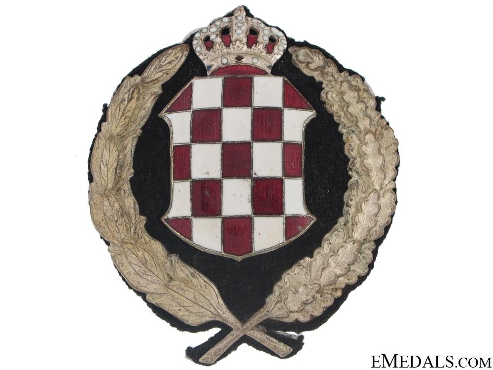 eMedals-Banovina of Croatia (1939-1941) - Police Cap Badge