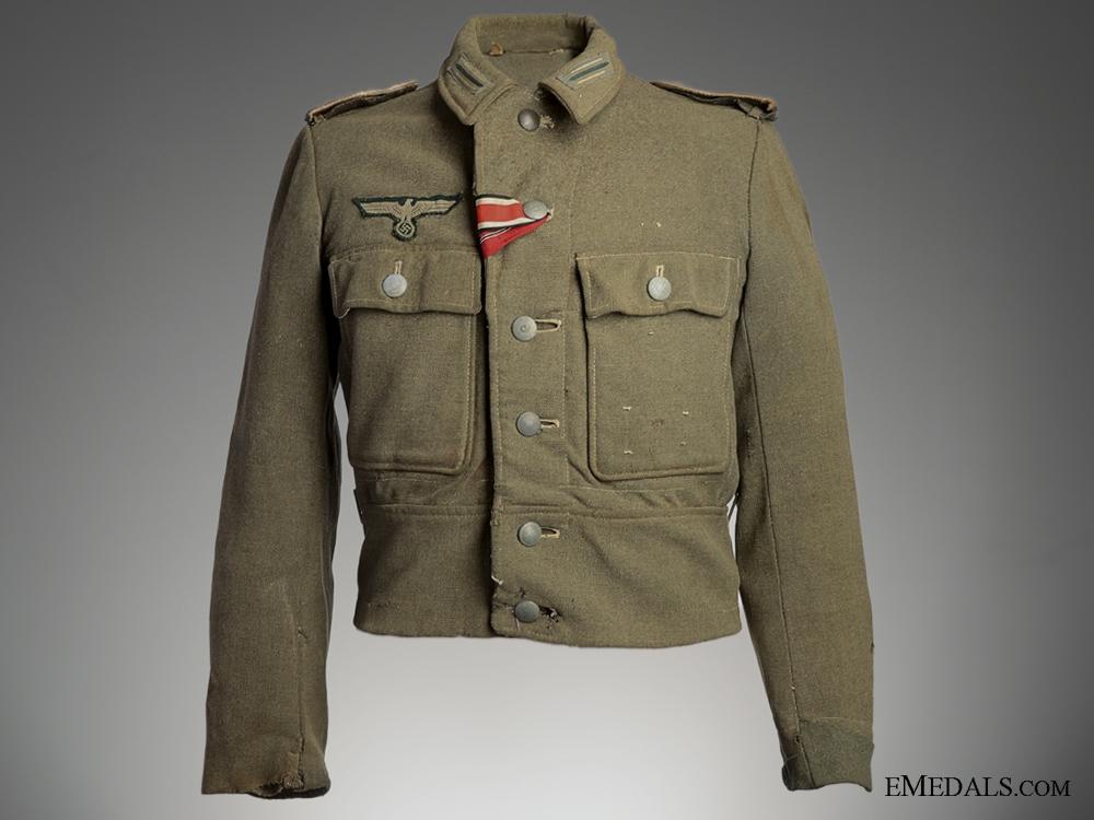 eMedals-Battle Worn Field Blouse & Side Cap, 1944