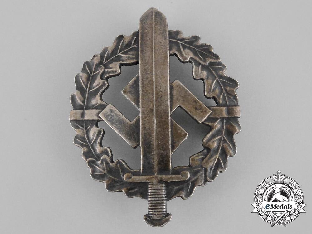 eMedals-A Silver Grade SA Sports Badge by Karl Hensler of Pforzheim