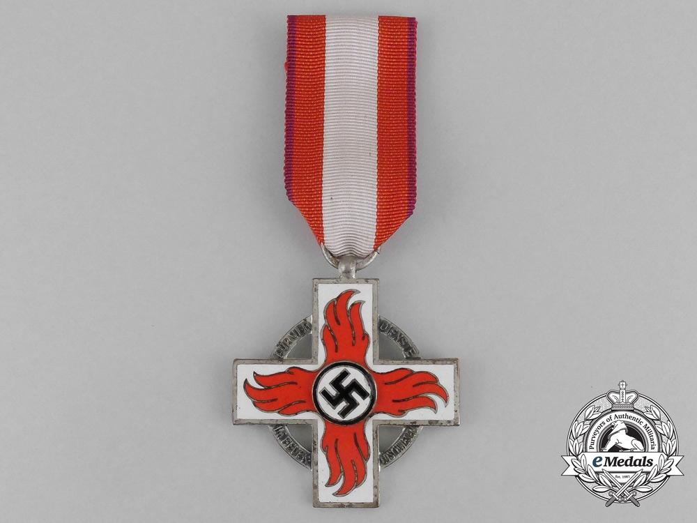 eMedals-A German Fire Brigade Service Cross; Second Class