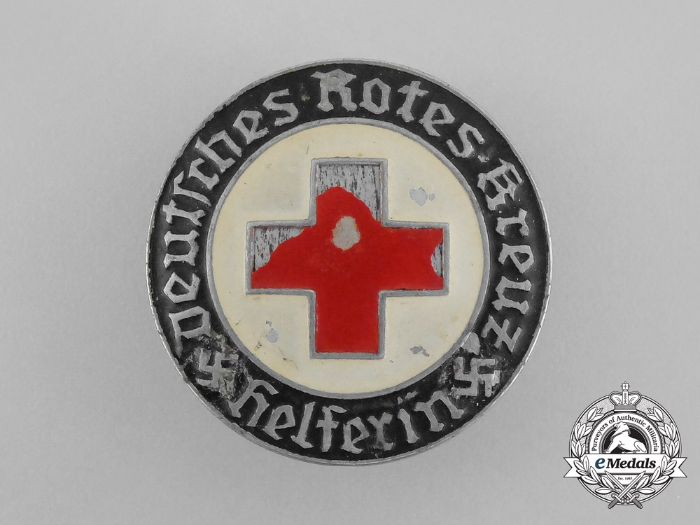 A Third Reich Period Drk German Red Cross Female Auxiliary Badge