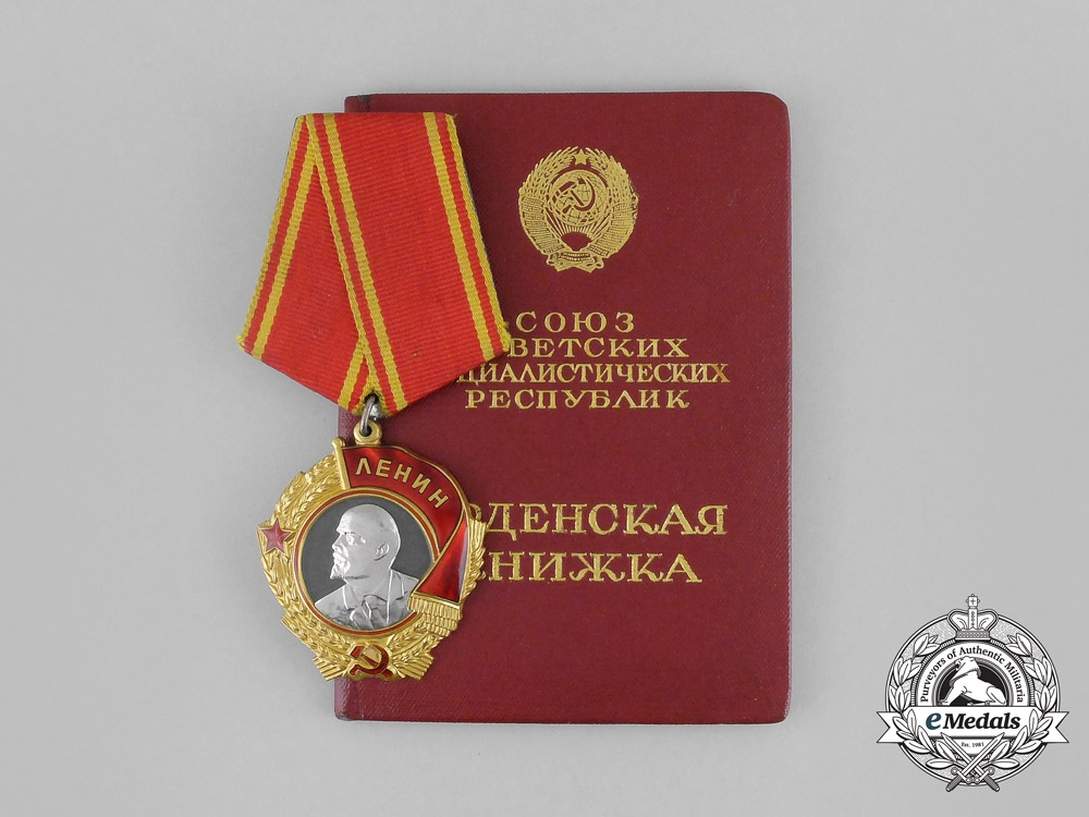 eMedals-Russia, Soviet. An Order of Lenin, Type 5 with Award Document, c.1945