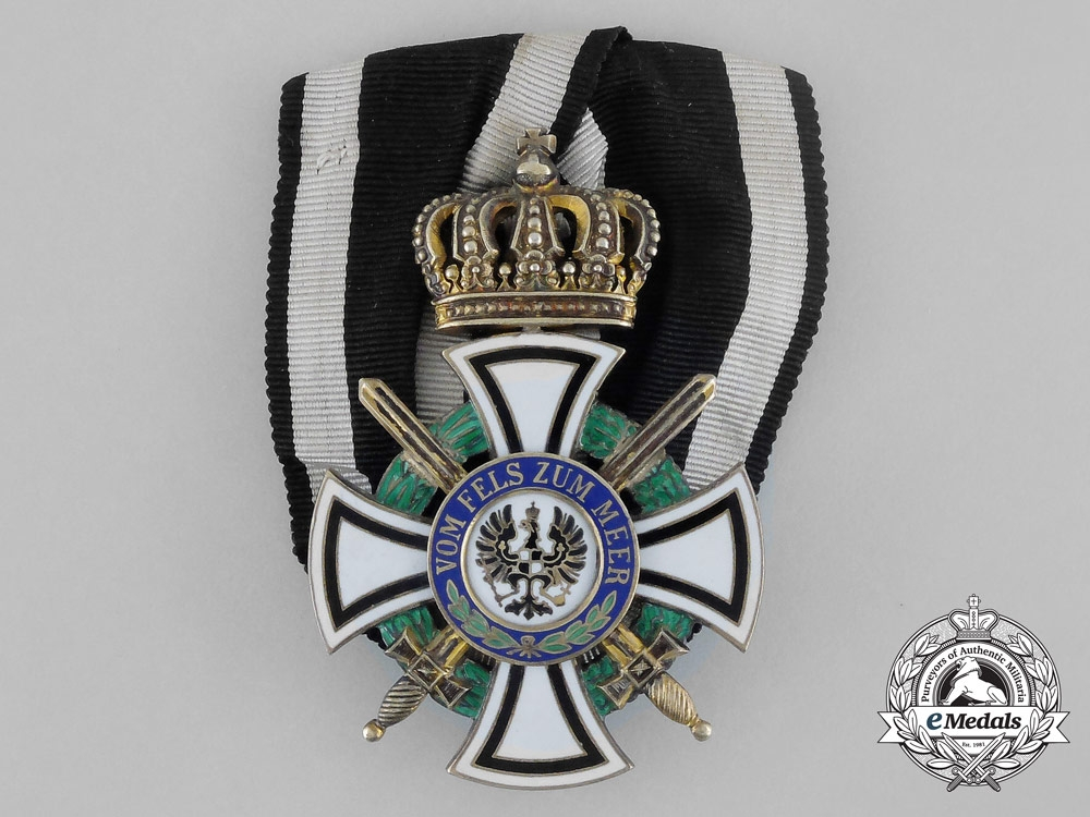 eMedals-A Royal House Order of Hohenzollern; Knight's Cross with Swords by Wagner