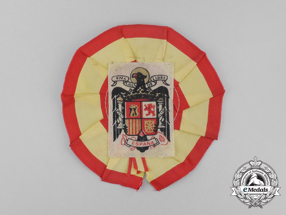 eMedals-A Spanish Civil War Franco Period Supporter's Rosette