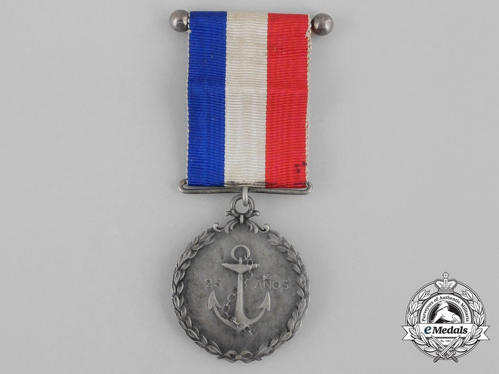 eMedals-Chile, Republic. A Naval Twenty-Five Year Service Medal