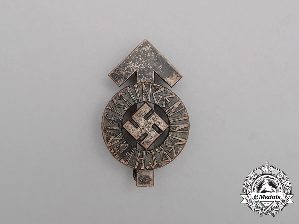 eMedals-A Silver Grade HJ Proficiency Badge by Wächtler & Lange; Numbered
