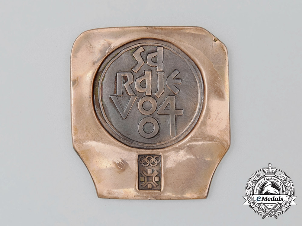 eMedals-A 1984 Sarajevo XIV Winter Olympic Games Participant's Medal
