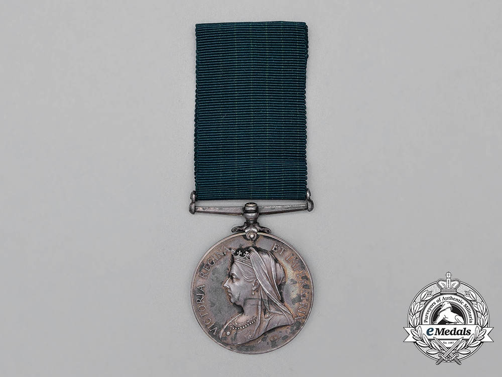 eMedals-A Colonial Auxiliary Forces Long Service Medal to Quartermaster & Honorary Major David Robertson