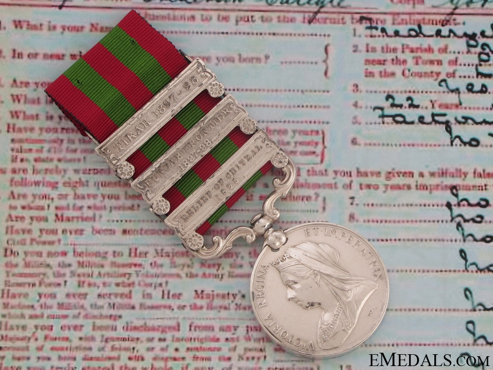 eMedals-India Medal 1895-1902, Gordon Highlanders