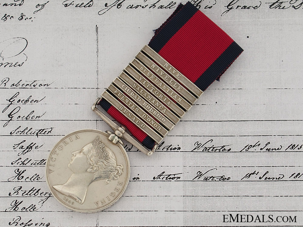 eMedals-A Superb 8 Clasp M.G.S. to the King's German Legion
