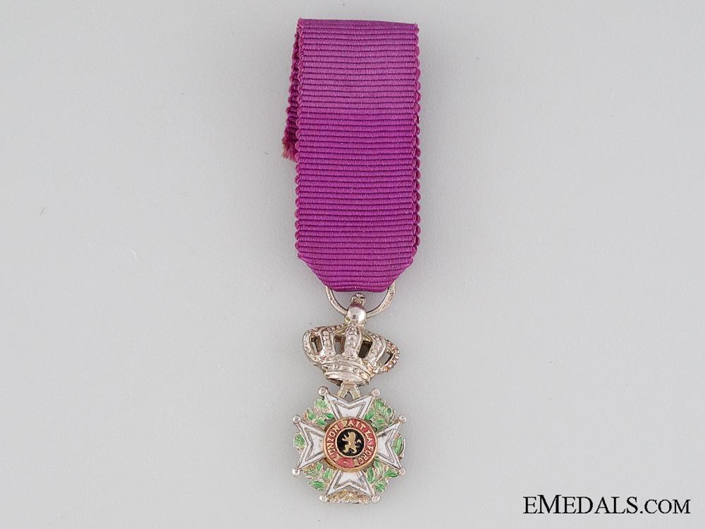 eMedals-Belgium Order of Leopold, Miniature
