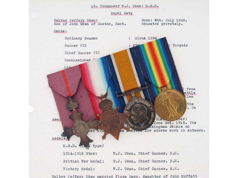 eMedals-MBE Group to Lt Cmdr W.J. Uden, Royal Navy