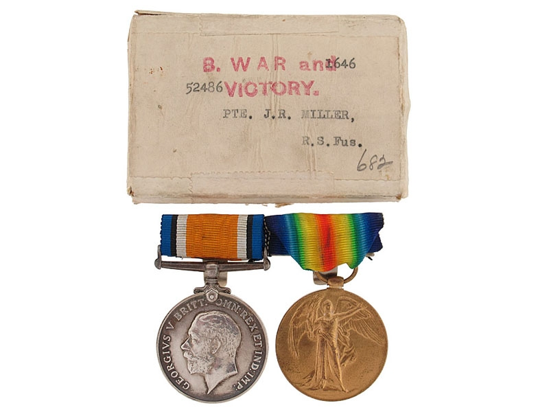eMedals-Great War Pair to The Royal Scottish Fusiliers