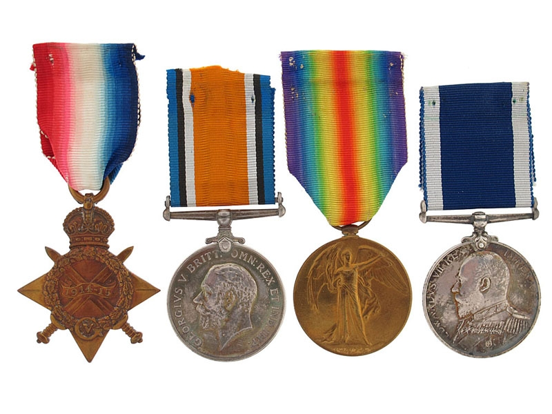 eMedals-WWI Group of Four to G.F.J. Herd - Master-At-Arms