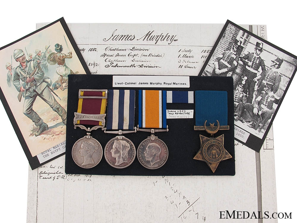 eMedals-Four Campaign Medals to Lieutenant-Colonel James Murphy, Royal Marines