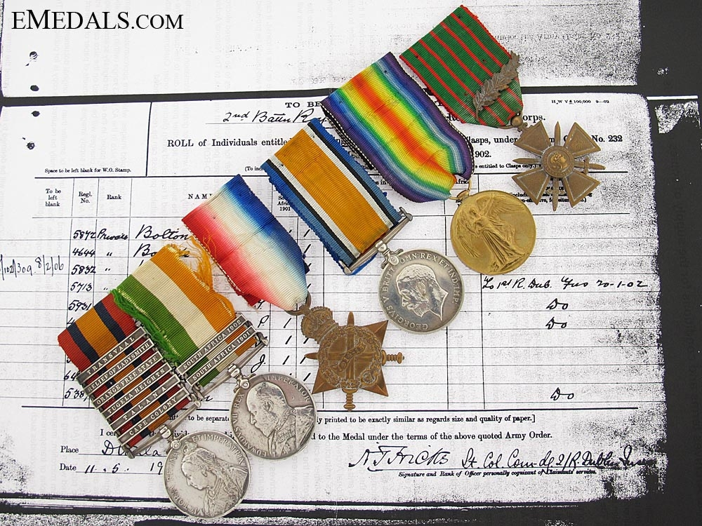 eMedals-The Awards of Captain Thomas R. Brady, Royal Dublin Fusiliers