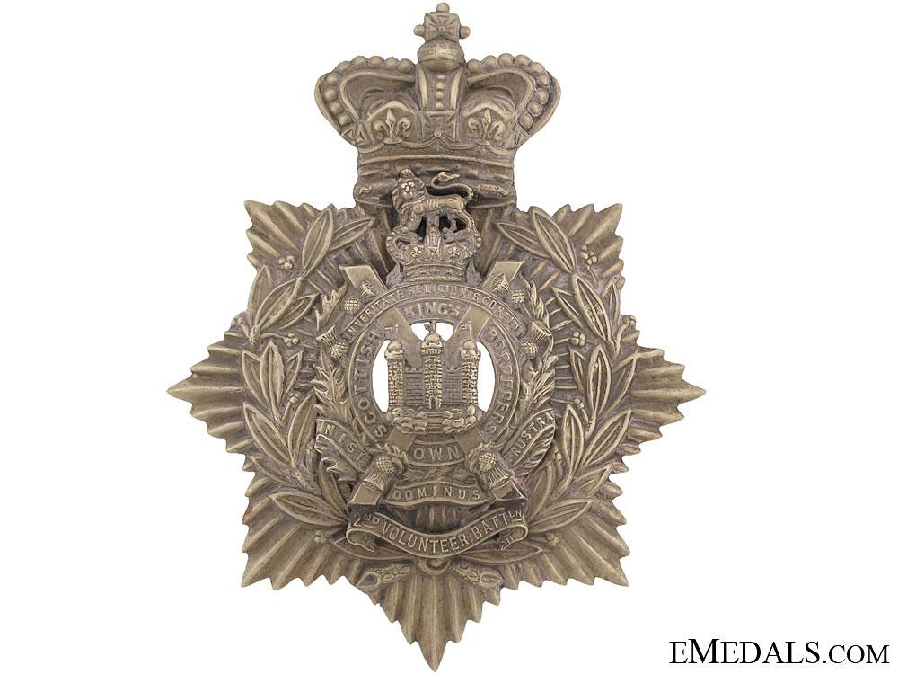 eMedals-Kings Own Scottish Borderers QVC Helmet Plate pre 1902