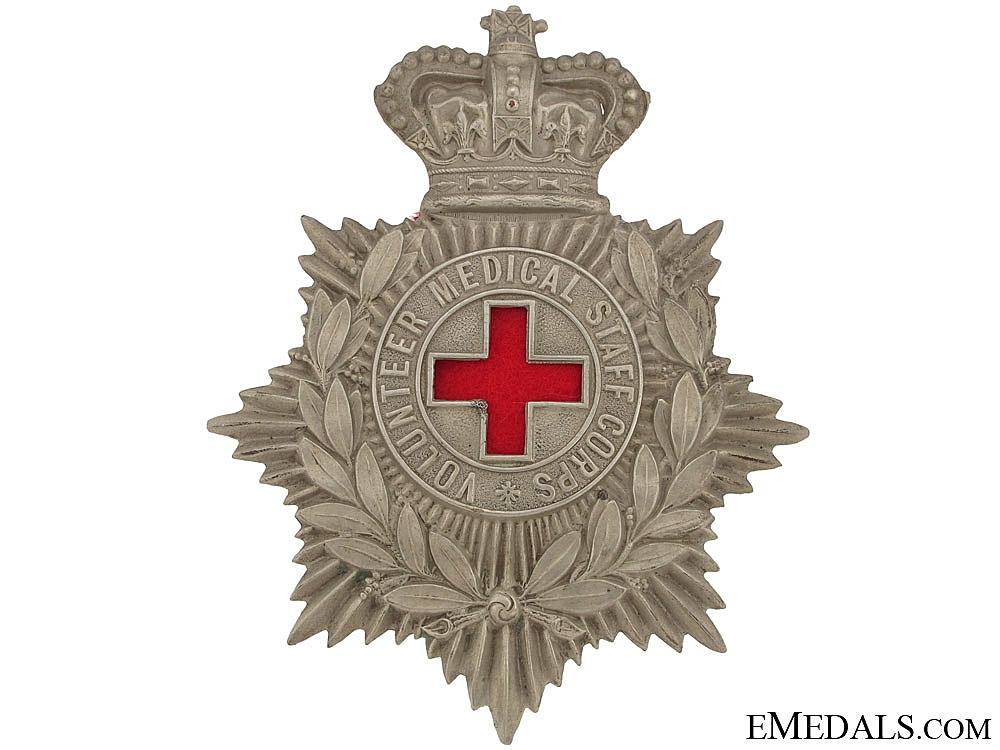 eMedals-Volunteer Medical Staff Corps Victorian Helmet Plate