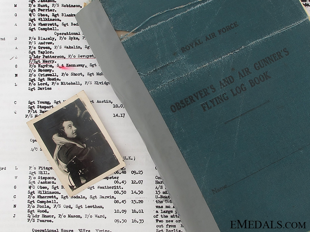 eMedals-The Particularly Fine Flying Log Book of Pilot Officer Burrell