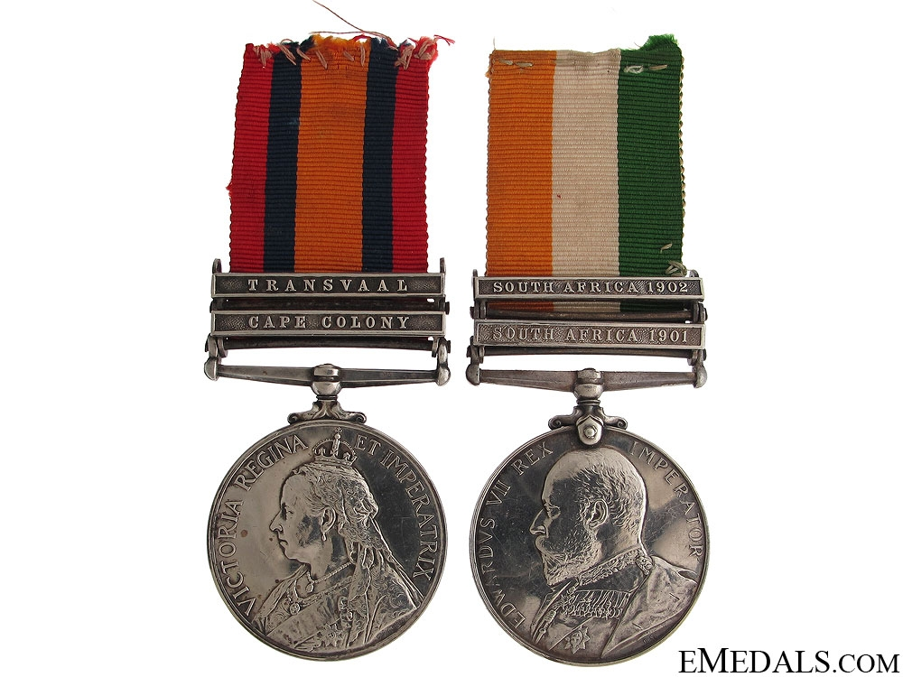 eMedals-Boer War Pair to the Lancashire Fusiliers