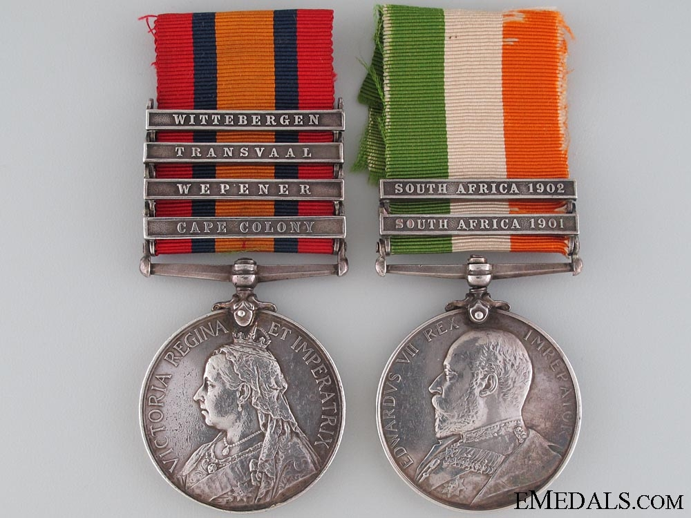 eMedals-Boer War Pair to the Cape Mounted Rifles