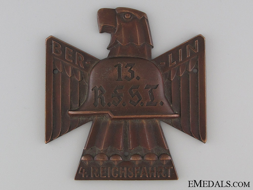 eMedals-Bronze Stahlhelm Berlin Plaque