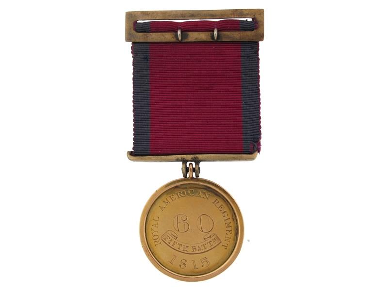 eMedals-A Unique 1815 Medal of Regard: 60th Regiment