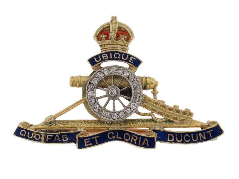 eMedals-GOLD Royal Regiment of Artillery Pin,