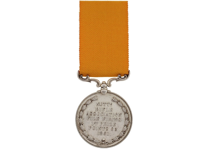 eMedals-Nottingham Rifle Association 1st Prize Medal, 1861
