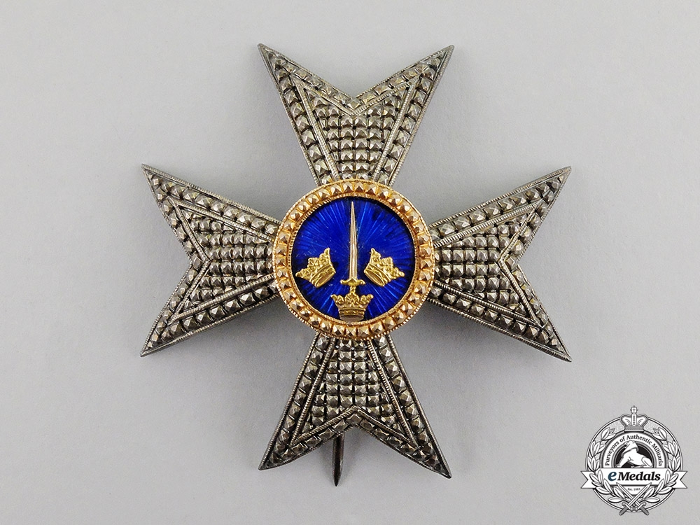 eMedals-Sweden. An Order of the Sword, Commander Breast Star, Type II, c.1880 by Kretly, Paris