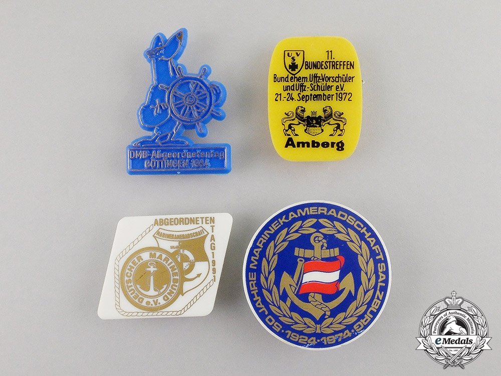 eMedals-  Germany. Four Post War Veteran's Organization Badges