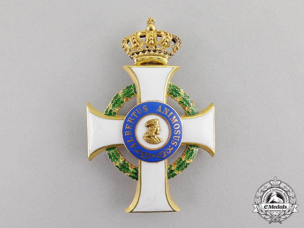 eMedals-Saxony. An Order of Albrecht in Gold, 1st Class Officer's Cross, c.1900
