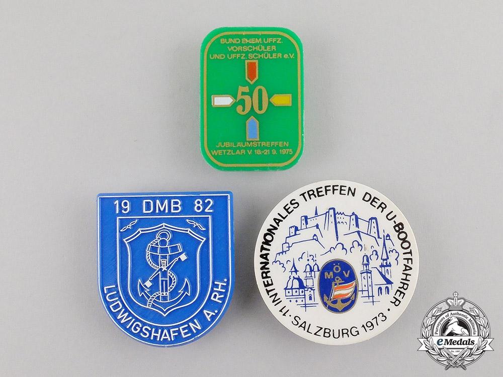 eMedals-Austria/Germany. Three Post War Veteran's Organzation Badges