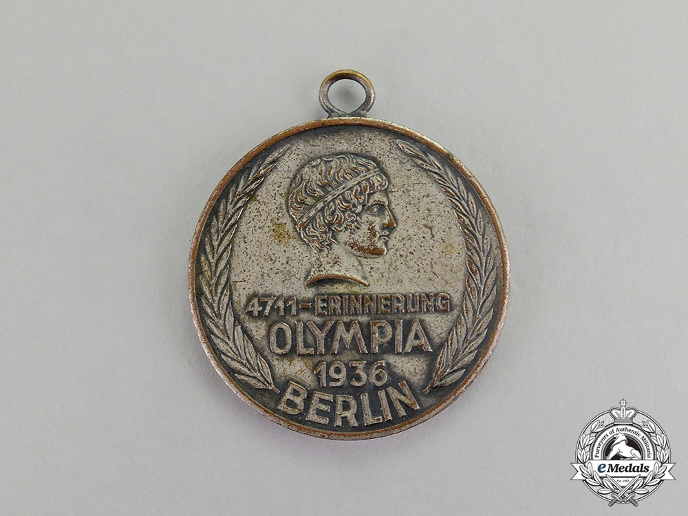 eMedals-Germany. A 1936 XI Berlin Summer Olympic Games Cologne 4711 Medal