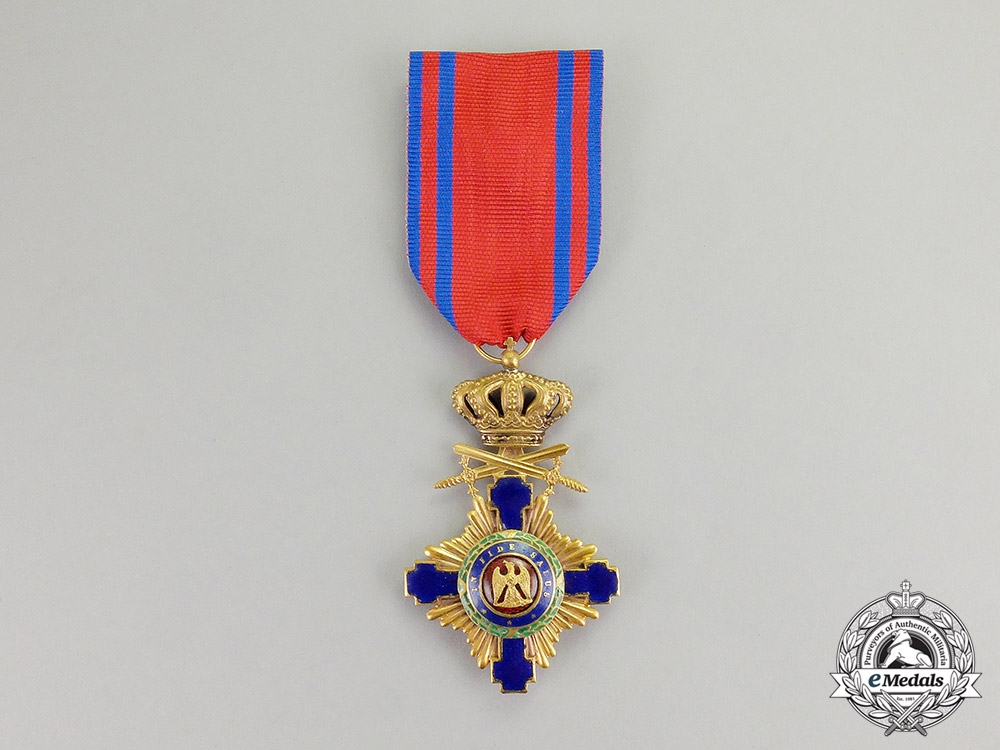 eMedals-Romania, Kingdom. An Order of the Star, Knight, Military Division, Type I (1877-1932)