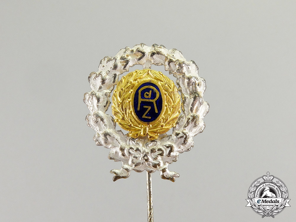 eMedals-Germany. A Silver Stick Pin League of Eligible Civil Servants