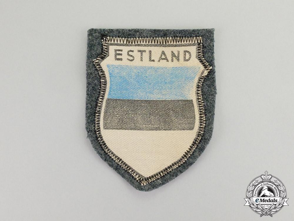 eMedals-Germany. A Wehrmacht Heer (Army) Estonian Volunteer Sleeve Shield