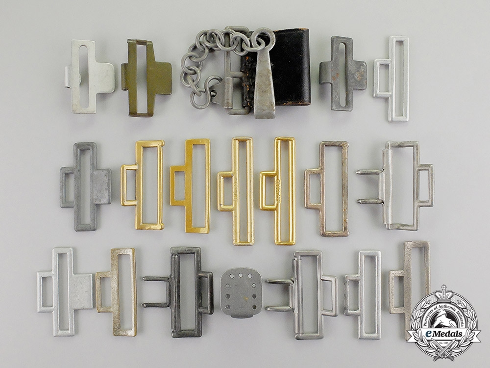eMedals- Germany. Nineteen Third Reich Period Belt Buckle Hooks and Clasps