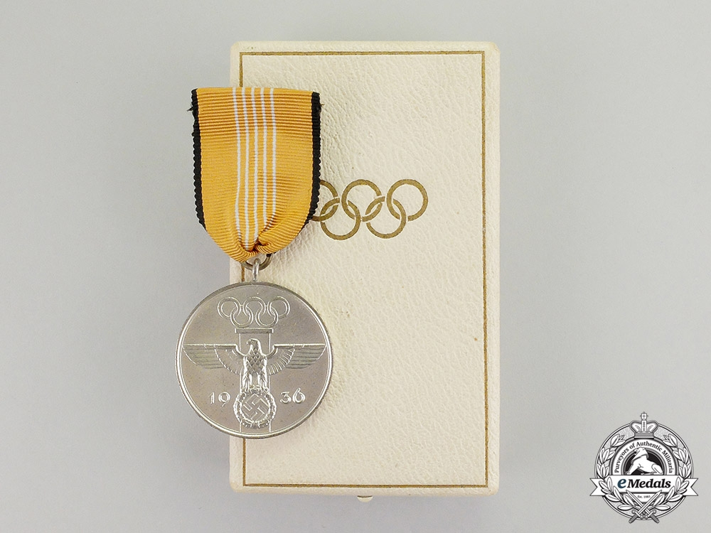 eMedals-Germany. A Mint 1936 XI Summer Olympic Games Service Medal