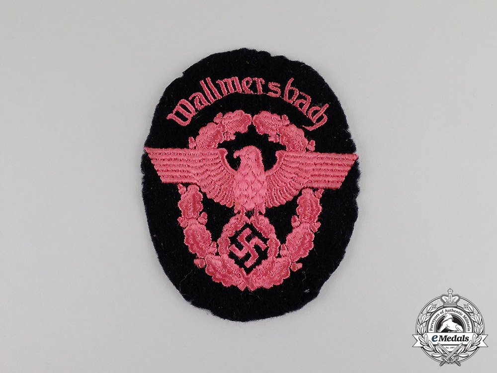 eMedals-Germany. A Fire Police of Wallmersbach Sleeve Patch