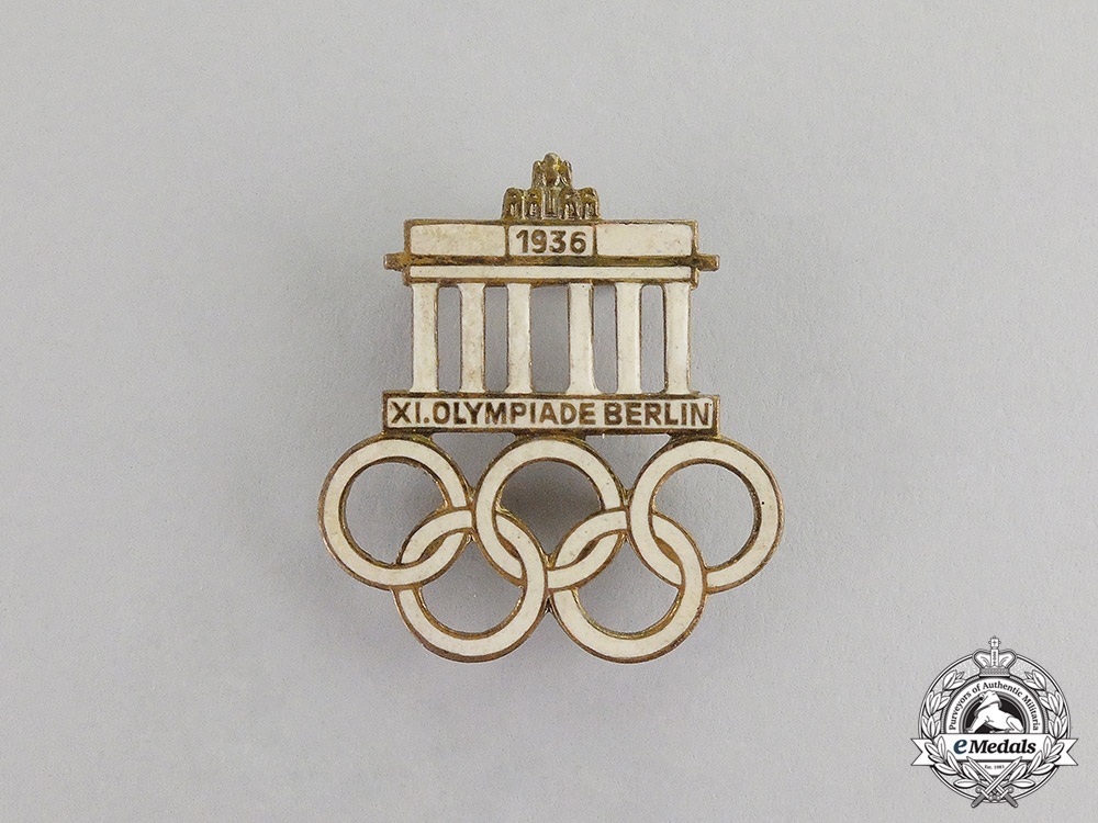 eMedals-  German.y A 1936 Berlin Olympic Games Event Badge by Werner Redo