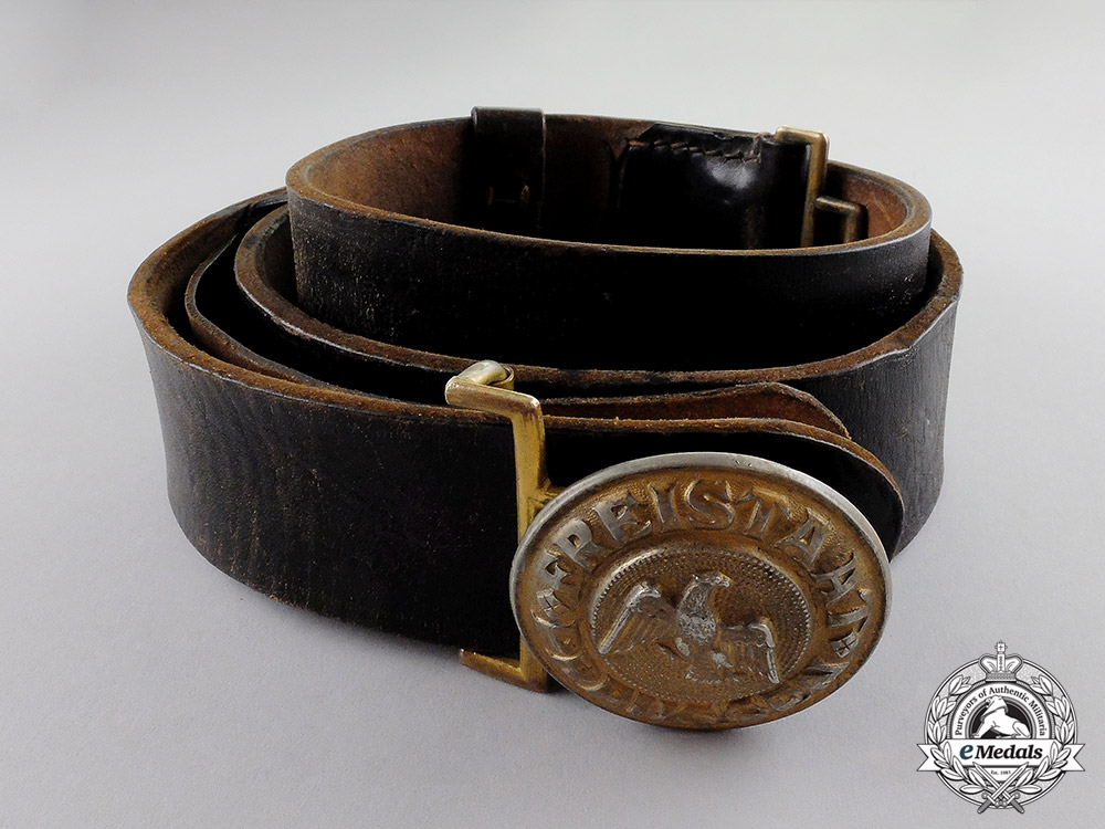 eMedals-Germany, Wiemar Republic. A Prussian Protection Police (Schutzpolizei) Officer Buckle & Belt