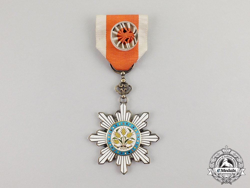 eMedals- China. An Order of the Golden Grain, 6th Class Officer's Badge