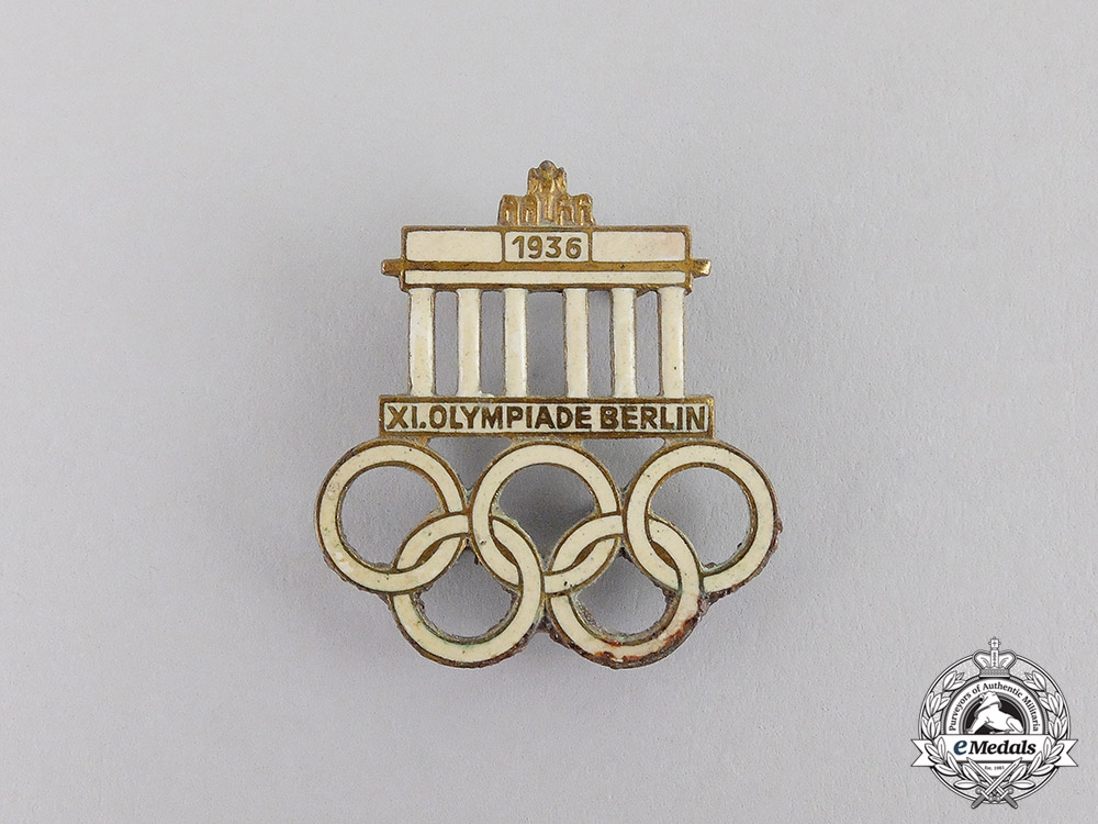 eMedals-Germany. A 1936 Berlin Olympic Games Event Badge by Hermann Aurich