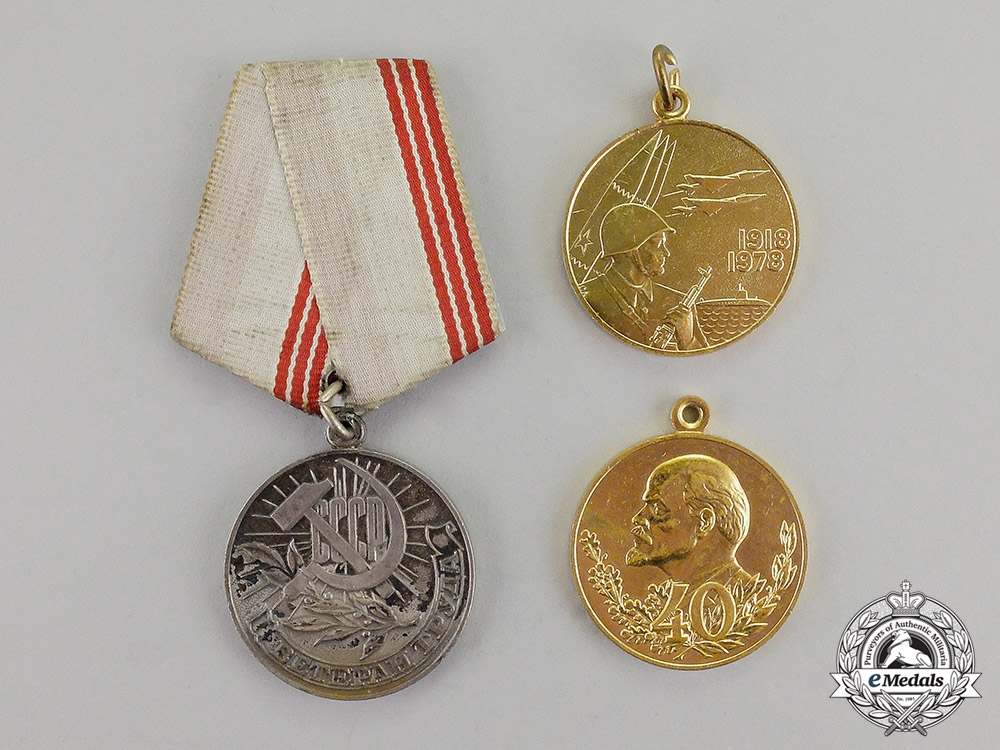 eMedals- Russia, Soviet Union. A Lot of Three Awards